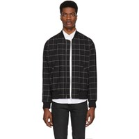 Paul Smith Ps By Black Wool Bomber Jacket