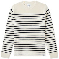 Norse Projects Verner Normandy Cotton Stripe Crew Knit White
