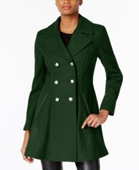Laundry By Shelli Segal Double Breasted Skirted Peacoat A Macy's Exclusive Forest Green