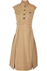 Marc Jacobs Silk Shantung Midi Dress Nude