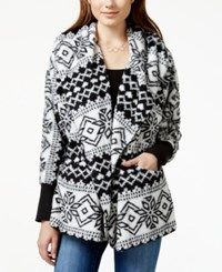 American Rag Printed Hooded Faux Fur Jacket Only At Macy's