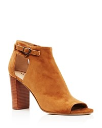 Via Spiga Giuliana High Heel Peep Toe Booties Beech