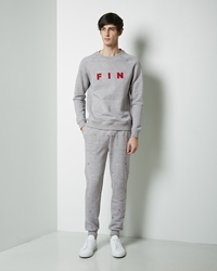 Band Of Outsiders Embroidered Foulard Sweatpant Heather Grey