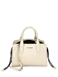 Love Moschino Faux Leather Eyelet Satchel White