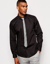 Asos Smart Shirt And Tie Set Save 20 Black