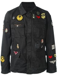 John Varvatos Military Style Jacket Black