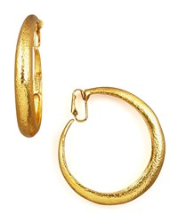 Hammered Golden Clip On Hoops Jose And Maria Barrera
