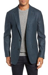 Bonobos Jetsetter Slim Fit Unconstructed Blazer Teal And Grey Plaid