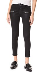James Jeans Coated Twiggy Ankle Zip Leggings Oil Slicked