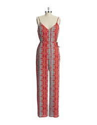 Design Lab Tribal Print Jumpsuit Persimmon