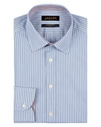 Jaeger Double Striped Slim Shirt Blue