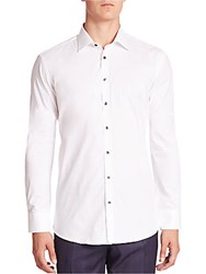 Saks Fifth Avenue Solid Button Up Shirt White