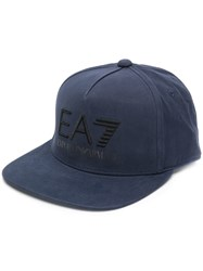 Emporio Armani Ea7 Embroidered Logo Cap Blue
