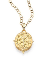Temple St. Clair Tree Of Life Diamond And 18K Yellow Gold Locket
