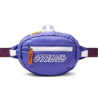 Heron Preston Embroidered Cotton Ripstop Belt Bag Purple