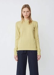 Aspesi Wool Cotton Classic Crewneck Sweater Yellow