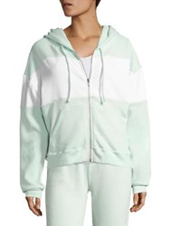 Wildfox Couture Marquis Colorblock Hoodie Iced Mint