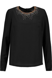 Raoul Lygia Embellished Silk Top