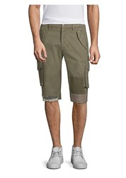 Hudson Jeans Patch Cargo Shorts Army Green