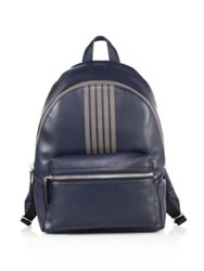 Uri Minkoff Paul Striped Backpack Dark Navy
