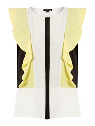 Therapy Flute Sleeve Colour Block Blouse Multi Coloured