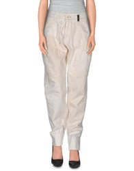 High Trousers Casual Trousers Women Ivory