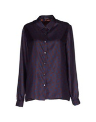 Laura Urbinati Shirts Dark Blue