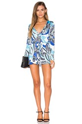 Yumi Kim Work It Romper Blue