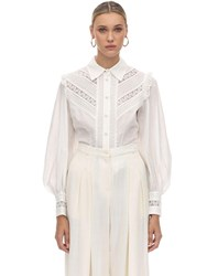 Zimmermann Broderie Anglaise Cotton Shirt Ivory