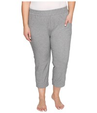 Soybu Plus Size Skim Capris Grey Heather Women's Capri Gray