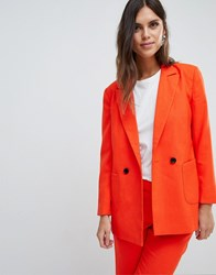 Y.A.S Coloured Tailored Blazer Co Ord Orange
