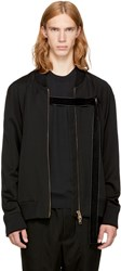 Song For The Mute Black Strap Bomber Jacket