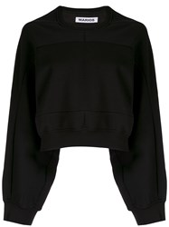 Marios Geometric Seam Cropped Sweatshirt 60