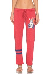 Lauren Moshi Willow Chasing The Sun Leg Sweatpant Red