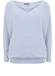 Mint Velvet Cloud Split Sleeve Batwing Knit Blue