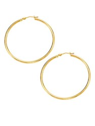 Saks Fifth Avenue 14K Yellow Gold Polished Round Hoops