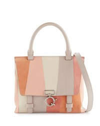 Derek Lam Mini Ave A Patchwork Satchel Bag Neutral Pattern