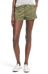 Junior Women's Bp. Cotton Cargo Shorts Olive Burnt