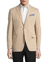 Black Brown Single Breasted Two Button Jacket Tan