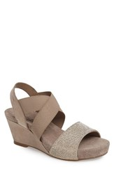 Mephisto Women's 'Barbara' Wedge Sandal Warm Grey Suede