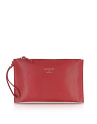 Le Parmentier Handbags Saffiano Leather Zip Clutch
