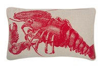 Thomas Paul Lobster Flax Pillow Natural Red