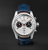 Bremont Mkii Jaguar 43Mm Stainless Steel And Leather Watch White