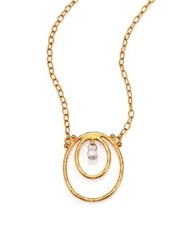 Gurhan Hoopla Diamond And 24K Yellow Gold Pendant Necklace