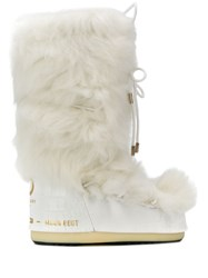 Moon Boot Mid Calf Tie Front Boots White