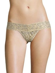Hanky Panky Leopard Low Rise Thong Sand