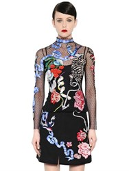 Temperley London Nautical Tattoos Hand Embroidered Top