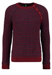 United Colors Of Benetton Jumper Bordeaux Navy