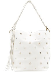 Red Valentino Star Detail Tote Bag Women Calf Leather One Size White