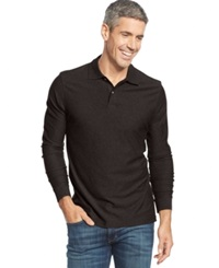 Tasso Elba Long Sleeve Marl Polo Only At Macy's Dark Cherry Marl